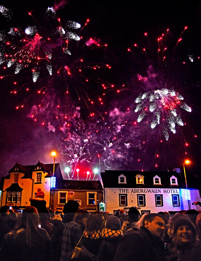New Years Celebrations on Fishguard Square