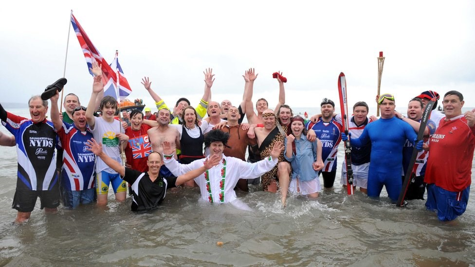 The Tenby Boxing Day Swim