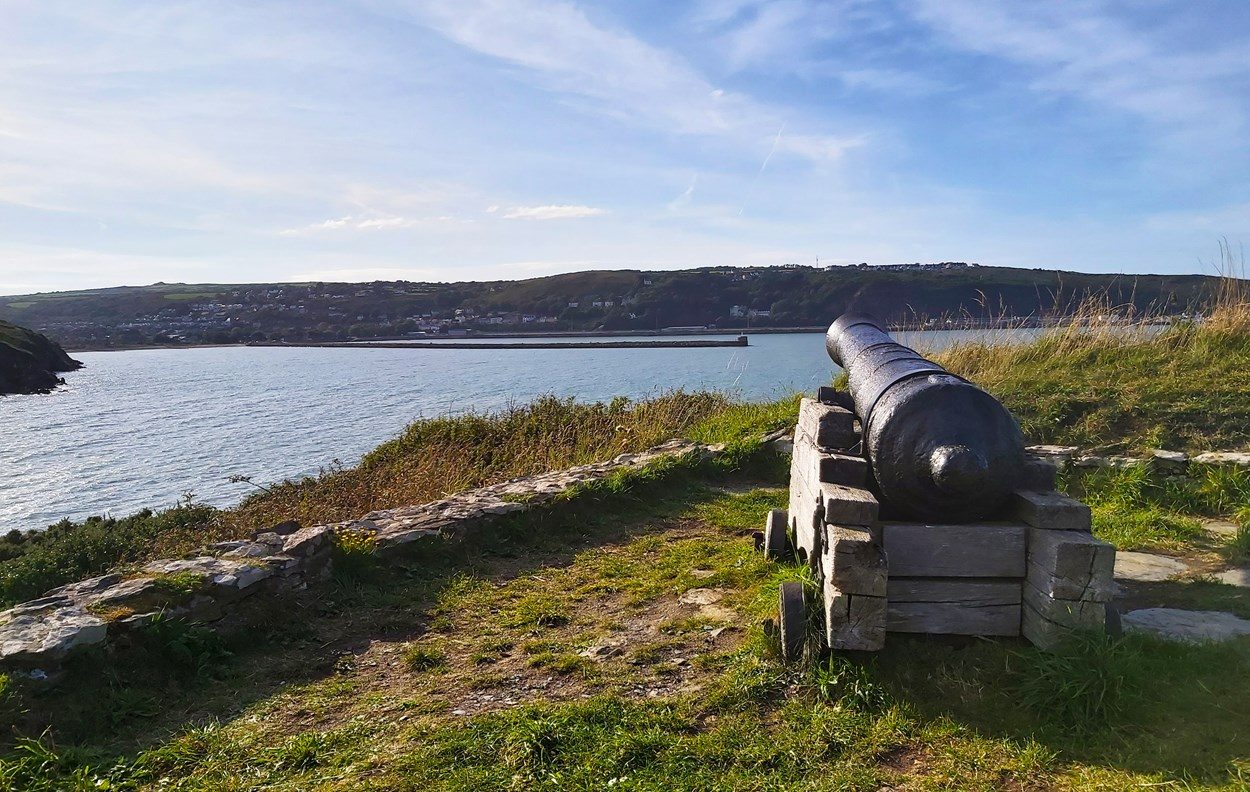 Fishguard fort, overlooking Goodwick